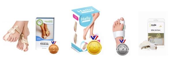 ranking produktów na haluksy